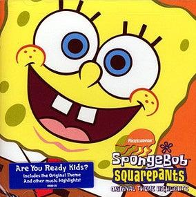 album cover of SpongeBob Squarepants with Spongebob's face blown up