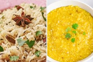 jeera rice and khichdi