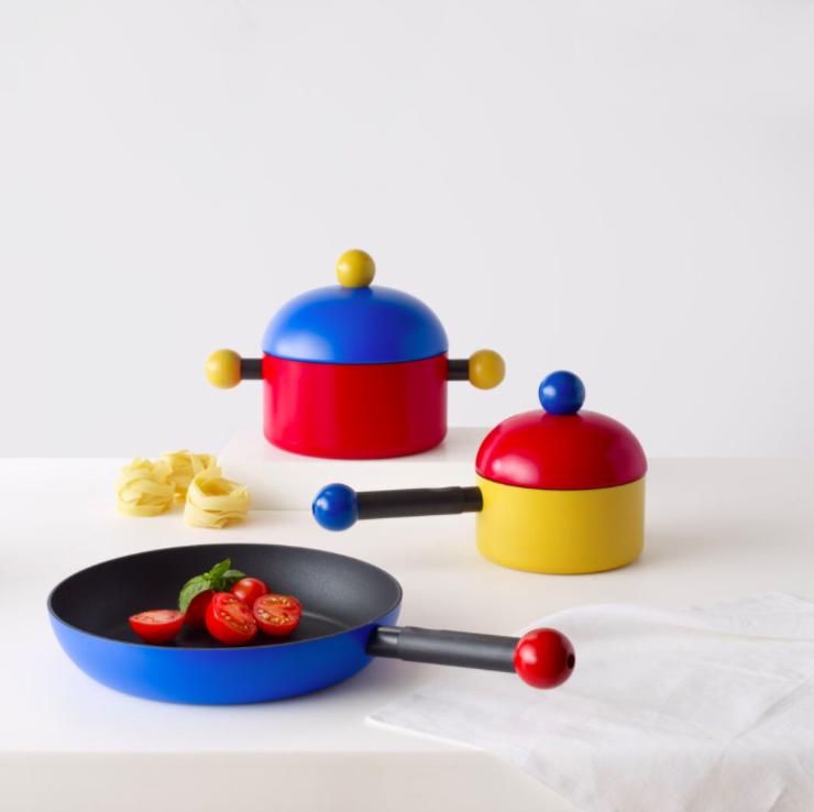 Memphis design kitchen set