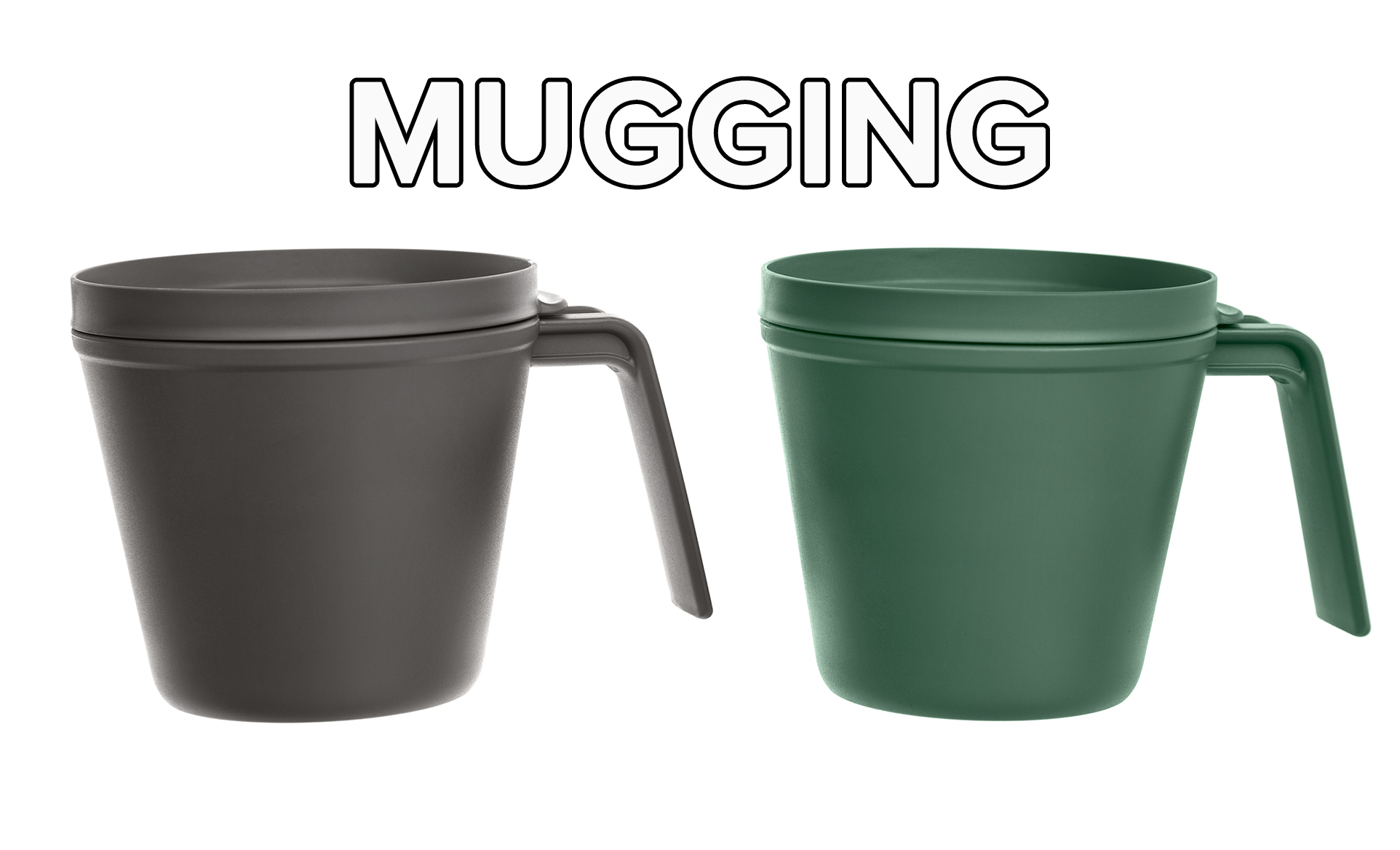 Two mugs that are used to water plants