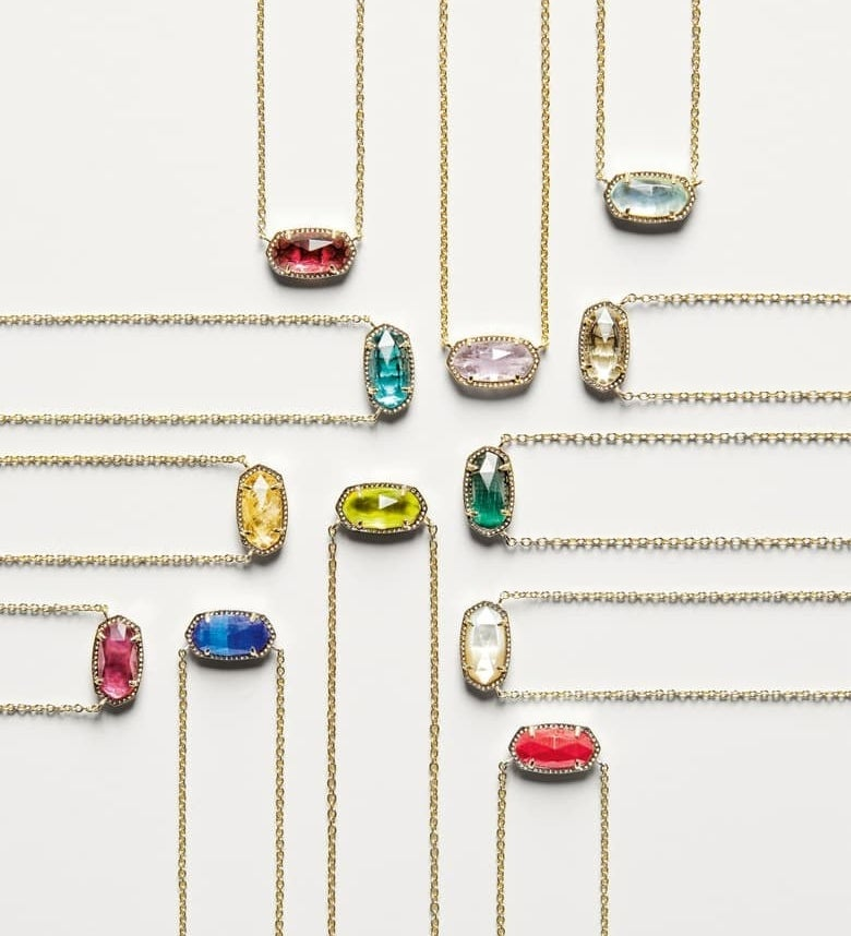 The various birthstone pendant necklaces