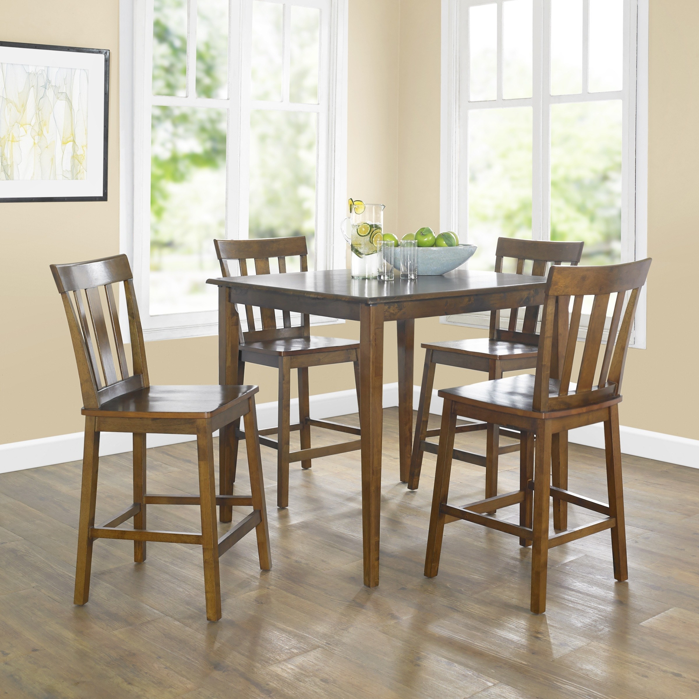 dining chairs and table in a dining room