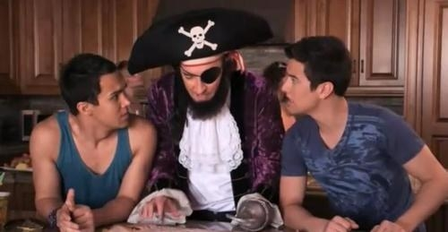 """SpongeBob's"" Patchy the Pirate with Carlos and Logan from ""Big Time Rush"""