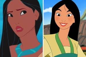 Pocahontas and mulan
