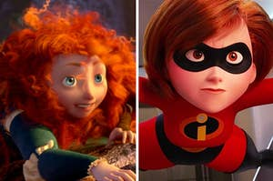 Side-by-side images of Merida from Brave and Elastigirl from The Incredibles