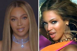 """Beyoncé and Beyoncé from """"Crazy In Love""""."""