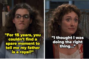 Mia Thermopolis yells at her mom for not telling her she was a princess