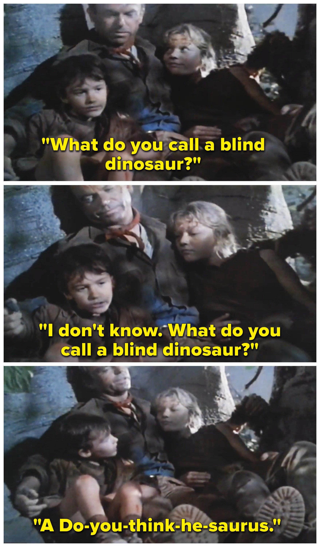 what do you call a blind dinosaur jurassic park
