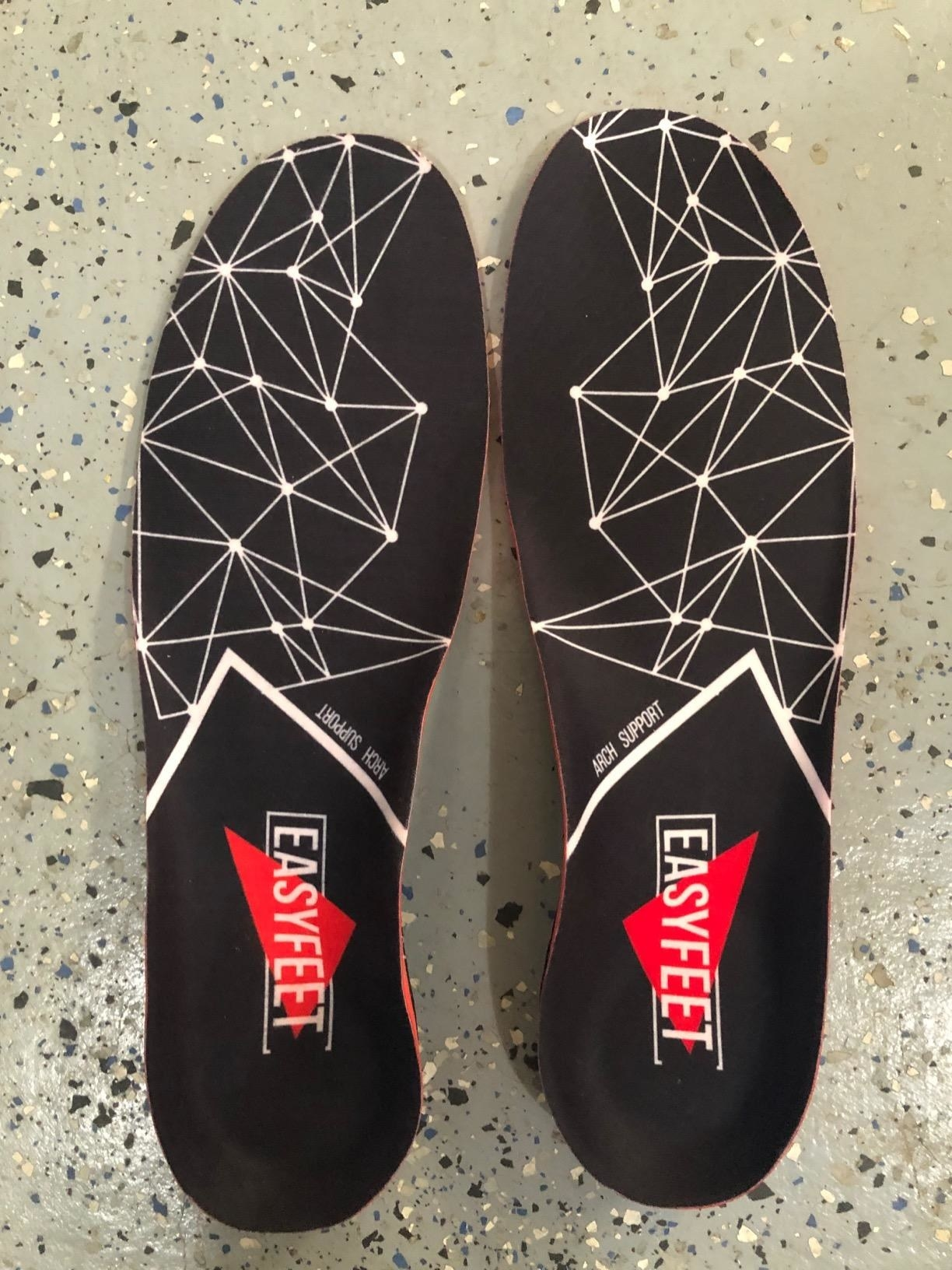 reviewer's set of insoles