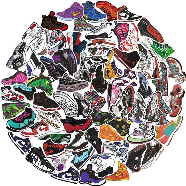 100 unique sneaker stickers