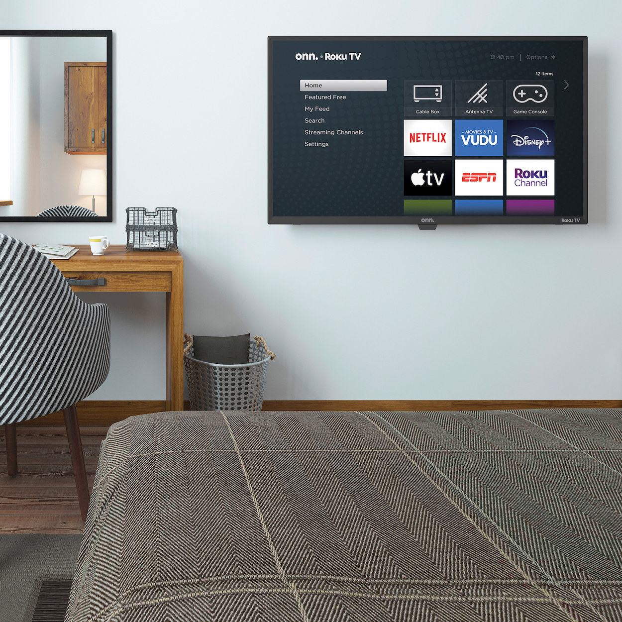The flat screen TV