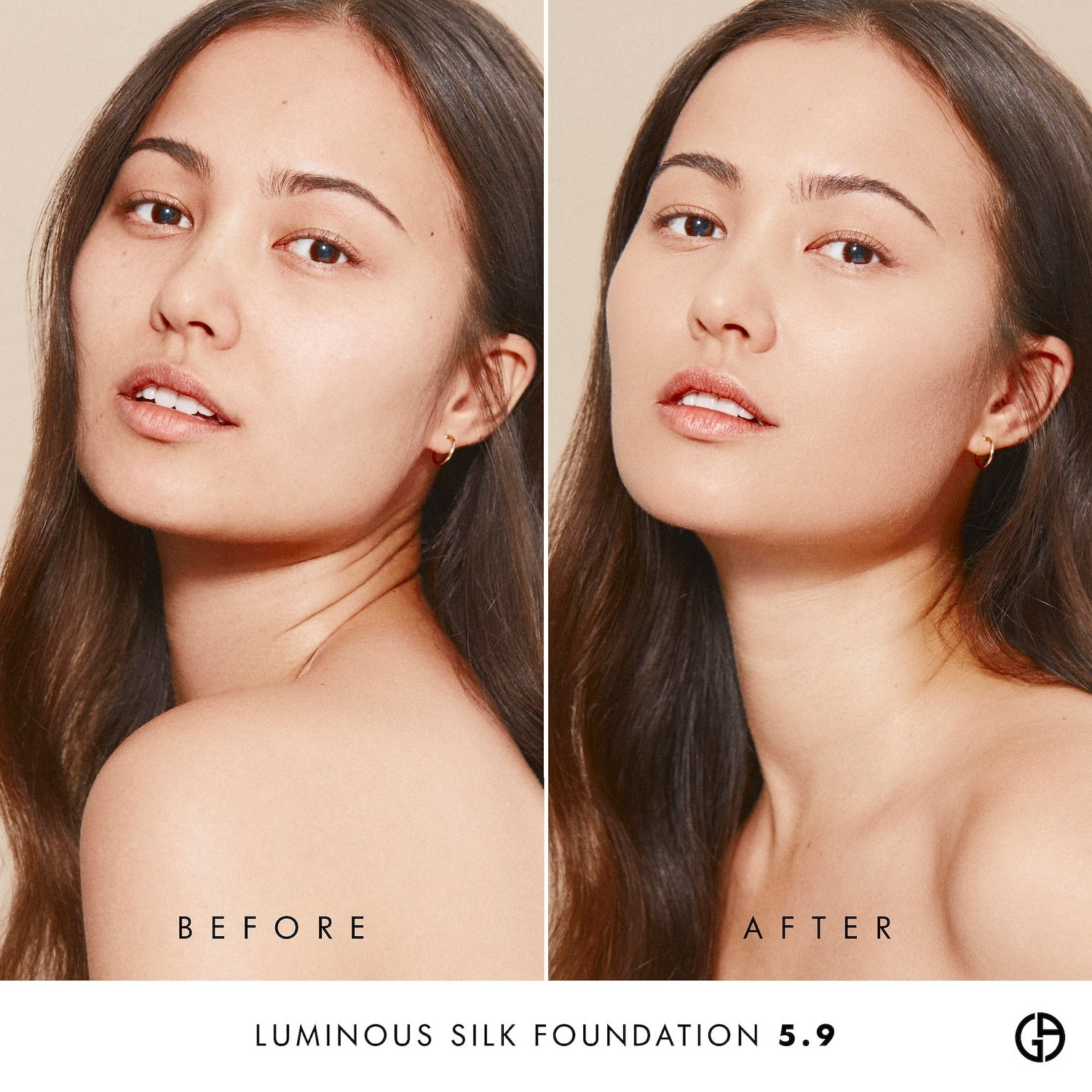 A before/after of a model with and without the foundation