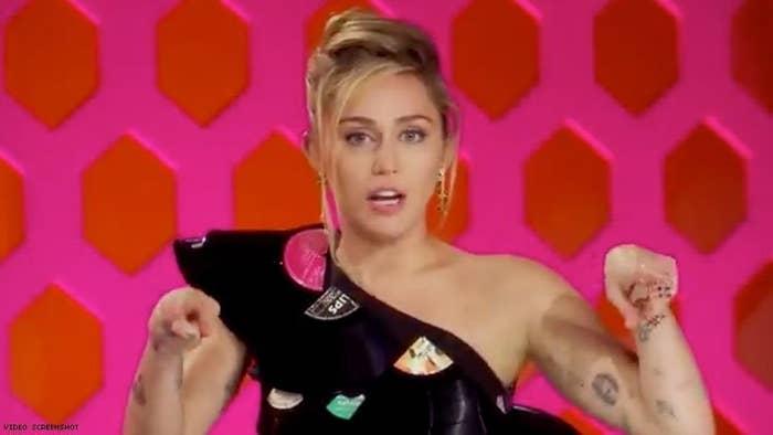 "Miley Cyrus as a ""Drag Race"" guest judge"