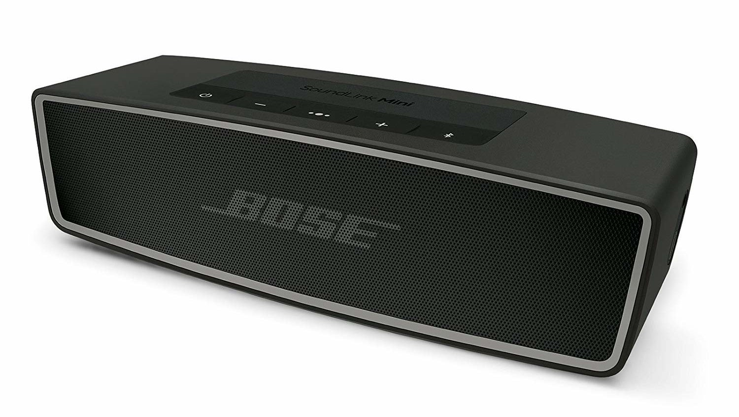 A black Bose SoundLink Mini Bluetooth Speaker II