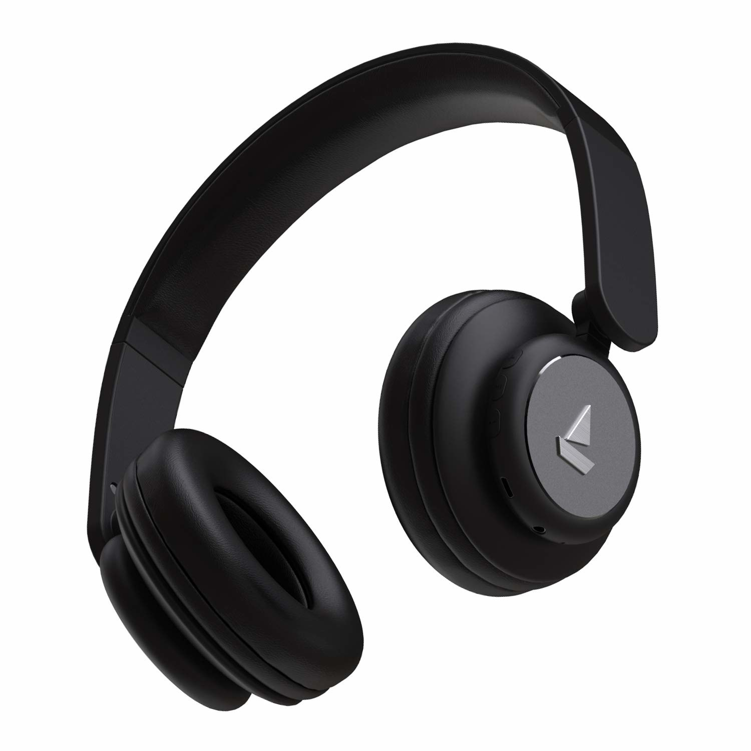 Black boAt Rockerz 450 wireless headphones