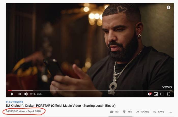 DJ Khaled's music video on YouTube