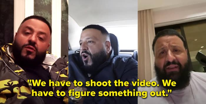 """In one of his video calls, Khaled says, """"We have to shoot the video; we have to figure something out"""""""