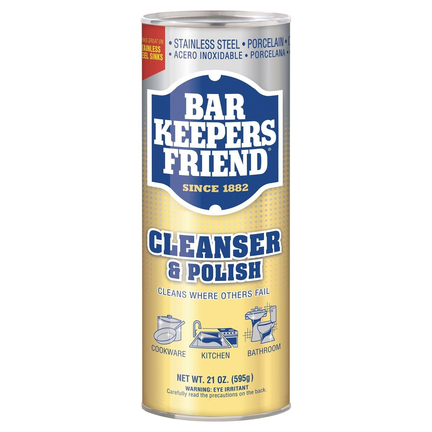 Bottle of cleanser and polish