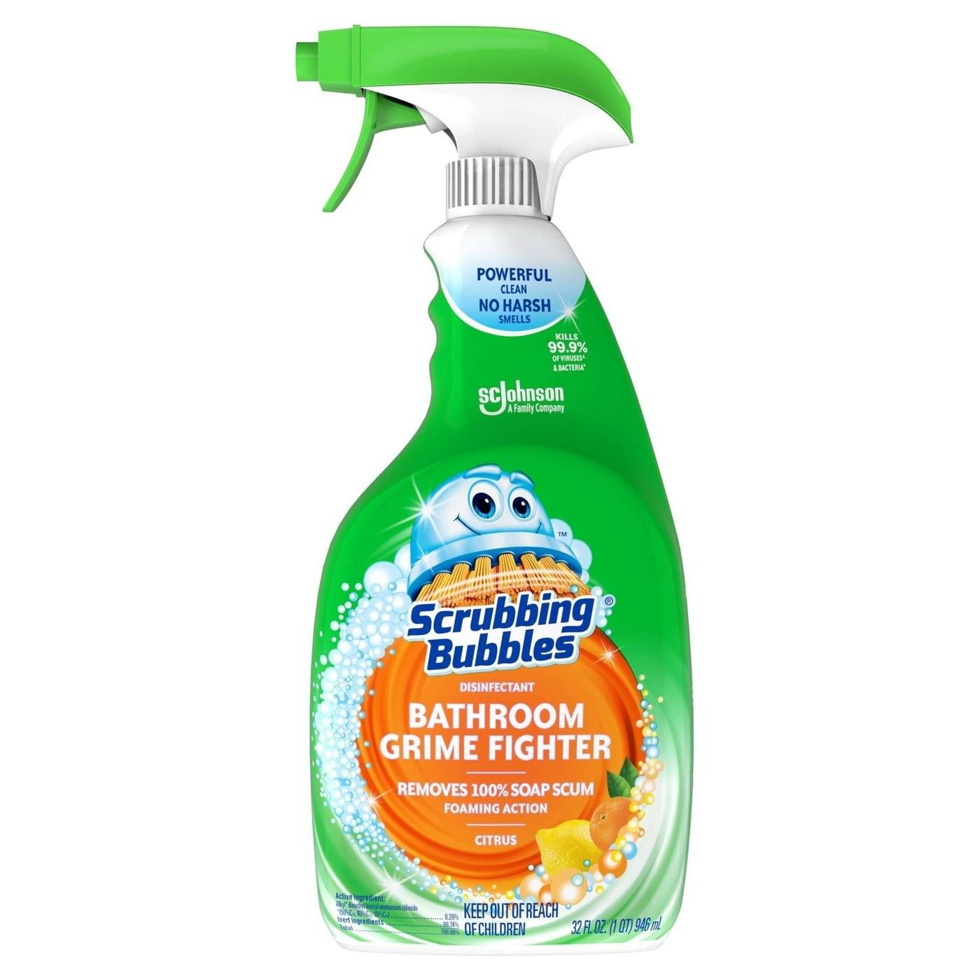 Bottle of bathroom cleaner