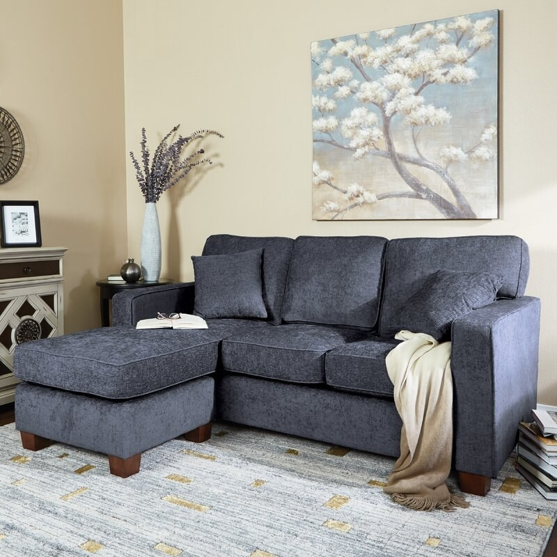 The gray sectional sofa