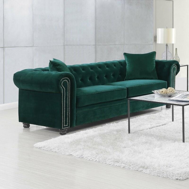 The green velvet couch