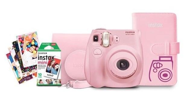 The light pink Fujifilm camera