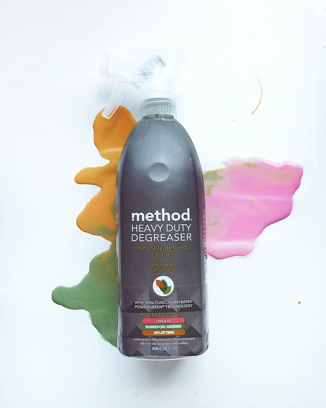 Bottle of product on abstract background