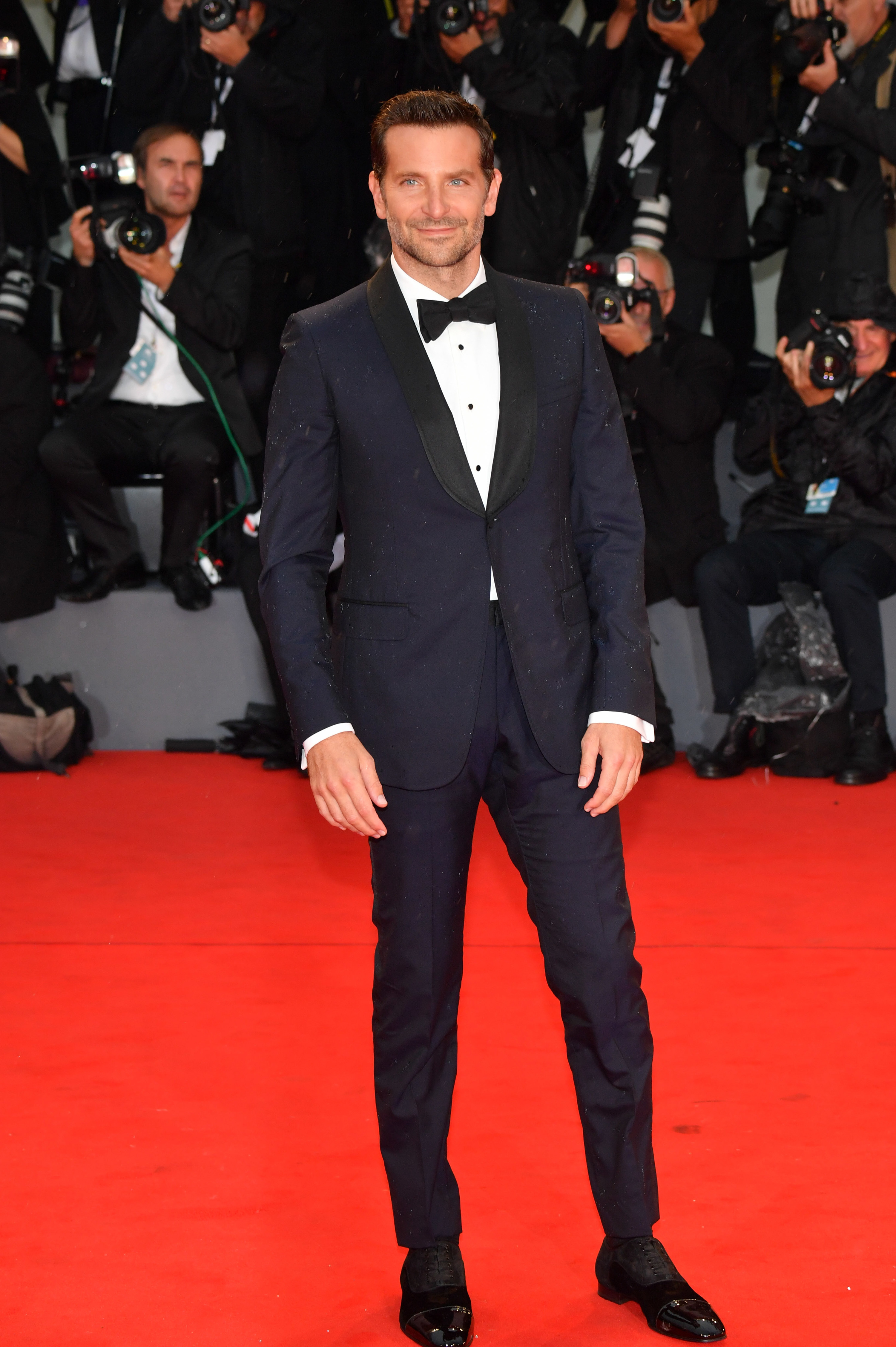 Bradley Cooper walks the red carpet ahead of the 'A Star Is Born' screening during the 75th Venice Film Festival.