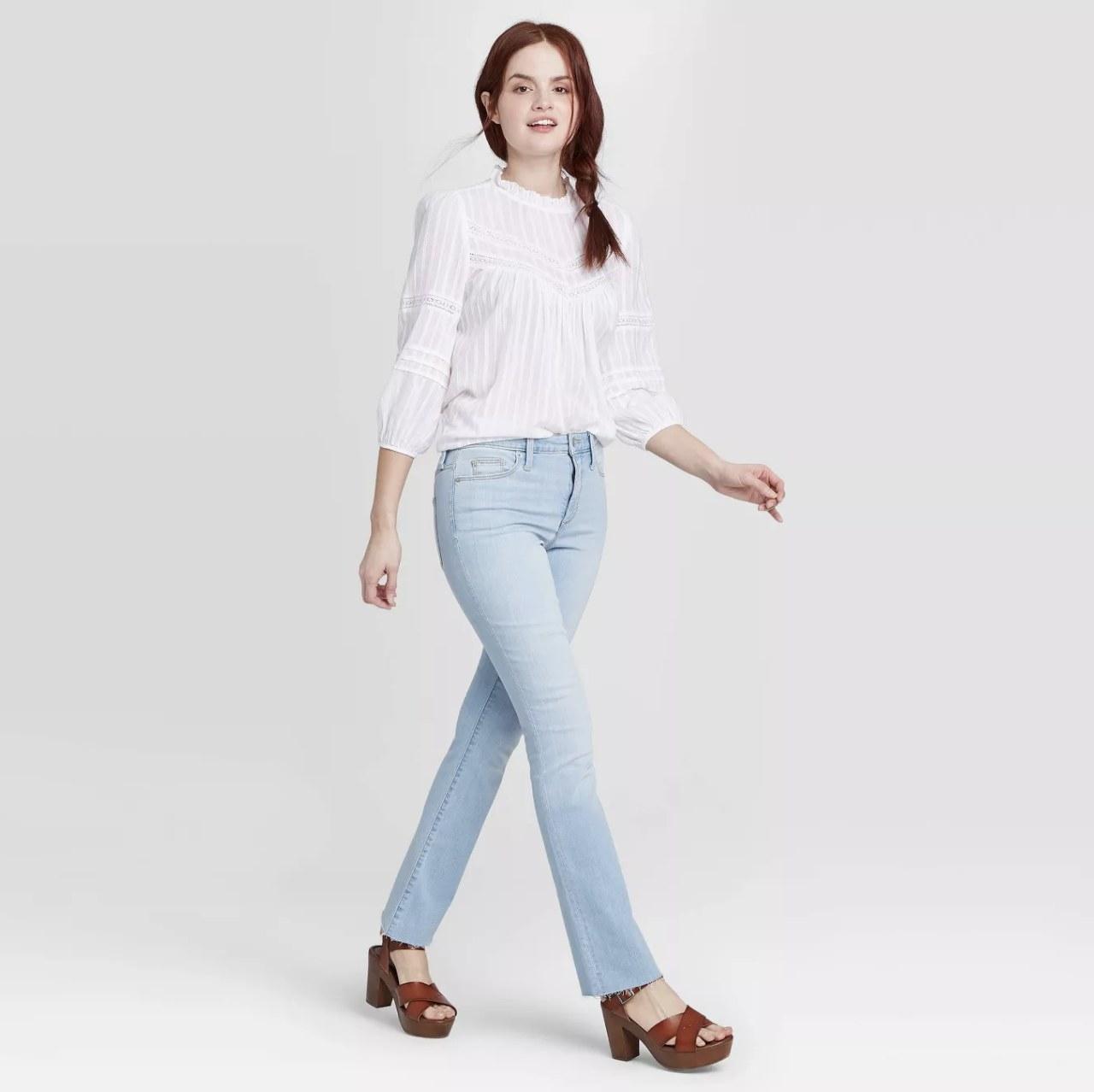 Model wearing the jeans