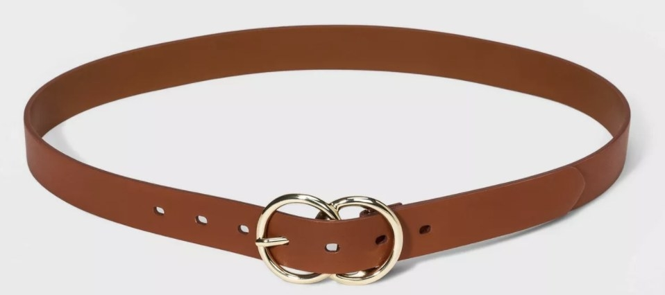 The belt in brown