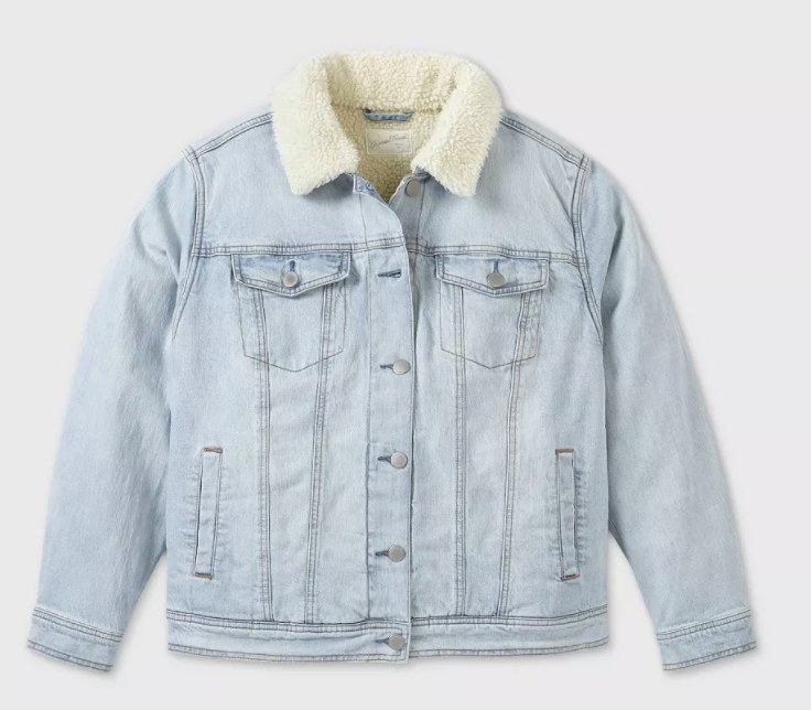 The jacket in light wash