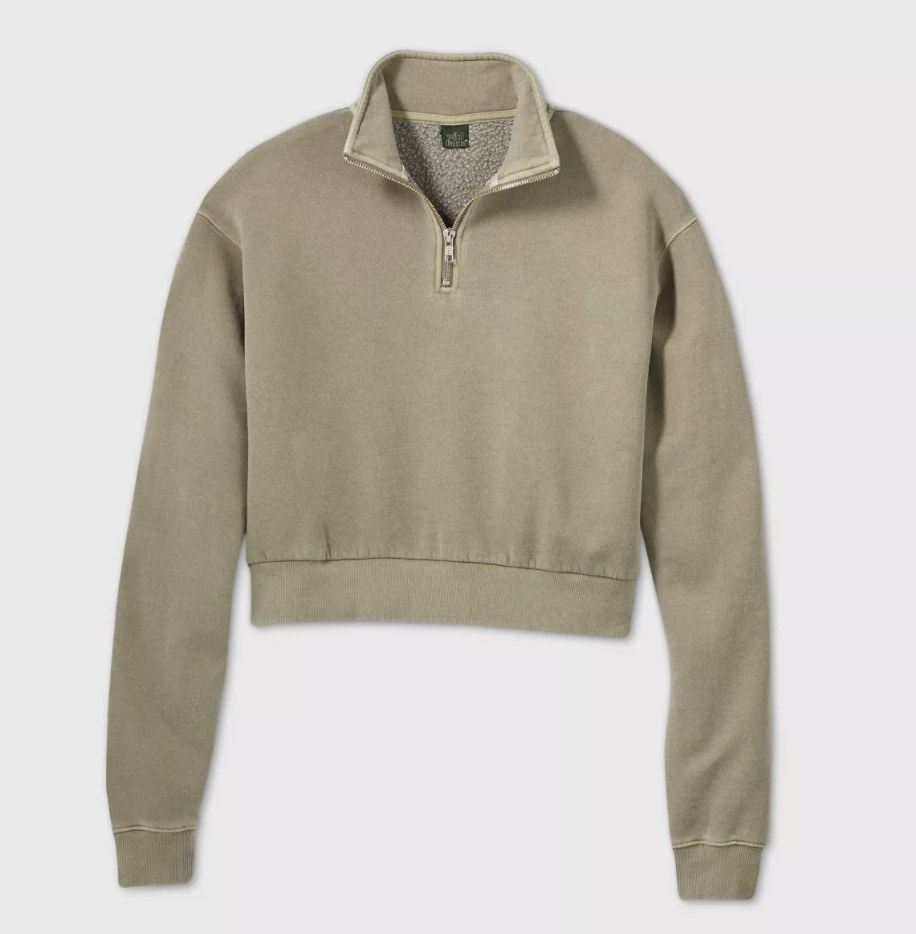 The pullover in light olive