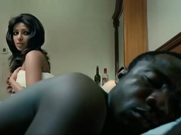in a still from the movie fashion, priyanka chopra looks shocked as she sits next to a man she had a one-night stand with, while is fast asleep