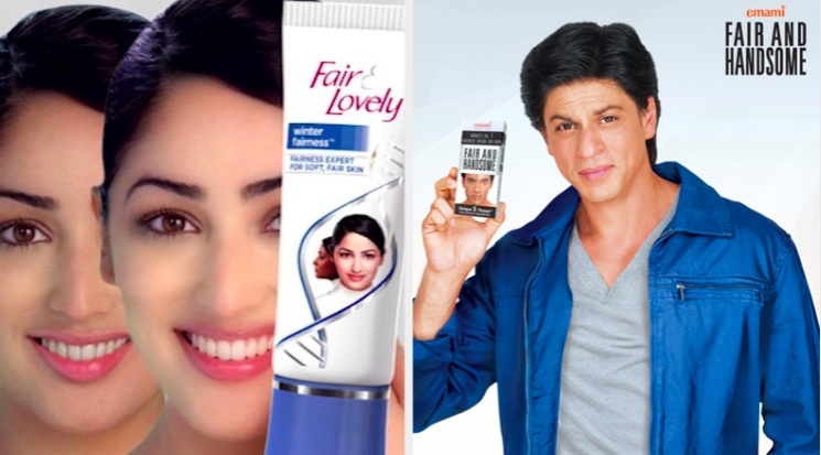 actress yami gautam endorses fair and lovely while shah rukh khan promotes fair and handsome