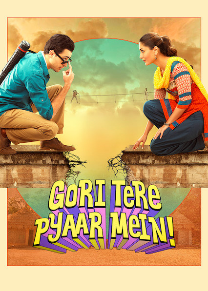 imran khan and kareena kapoor khan face each other in a poster for the movie gori tere pyaar mein