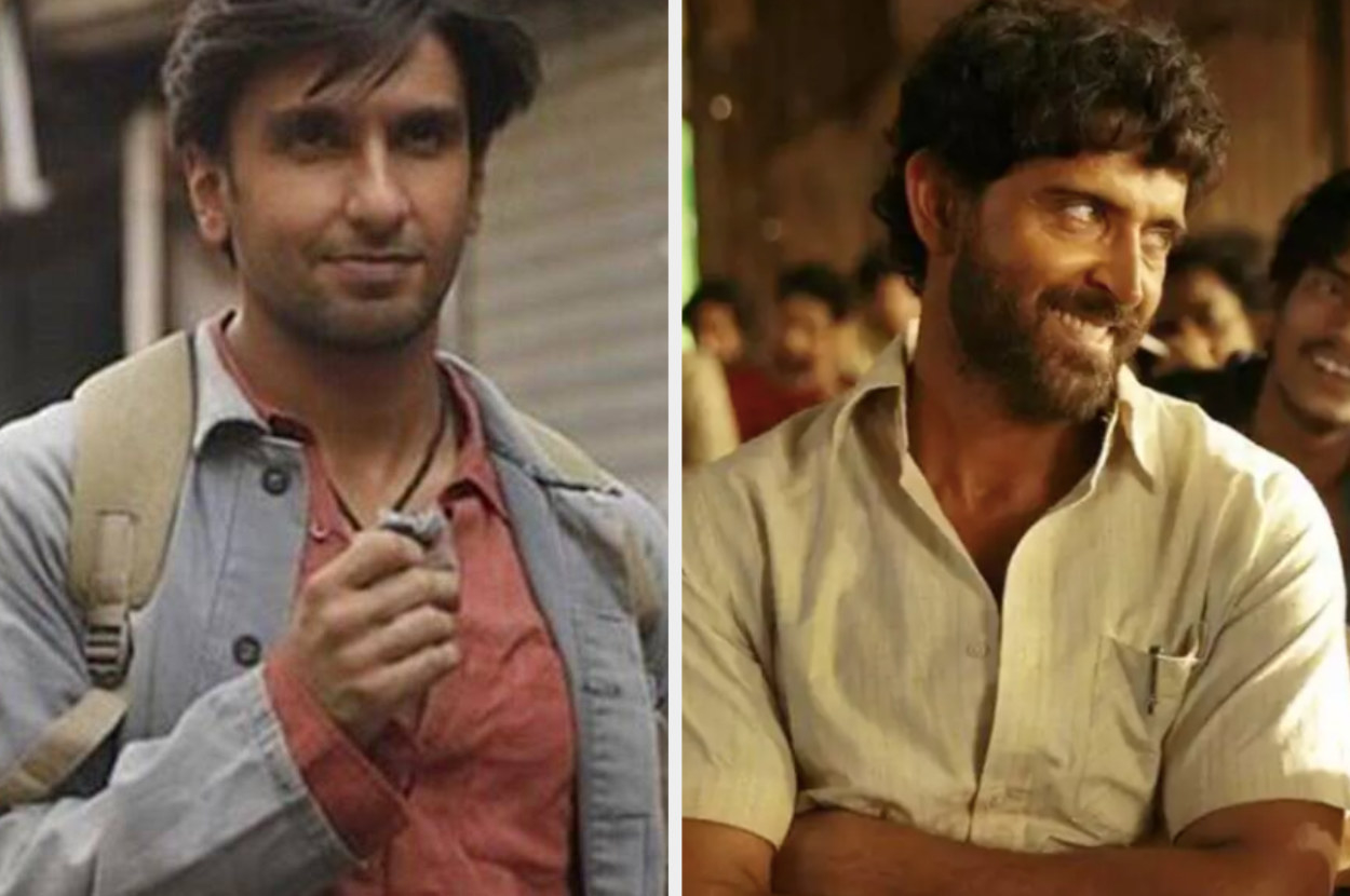 ranveer singh and hrithik roshan in stills from gully boy and super 30 respectively