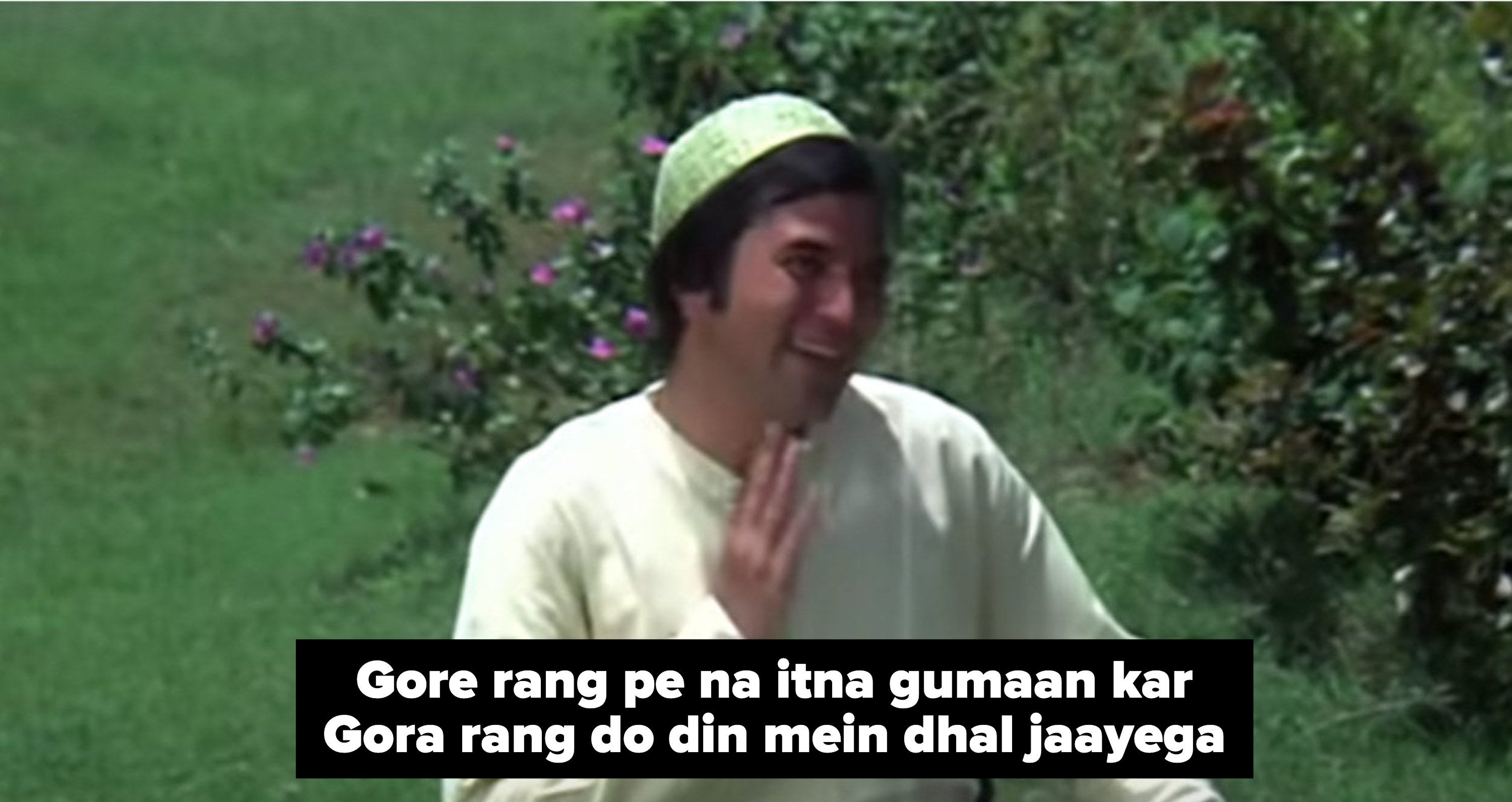rajesh khanna smiles and sings in a still from the movie roti