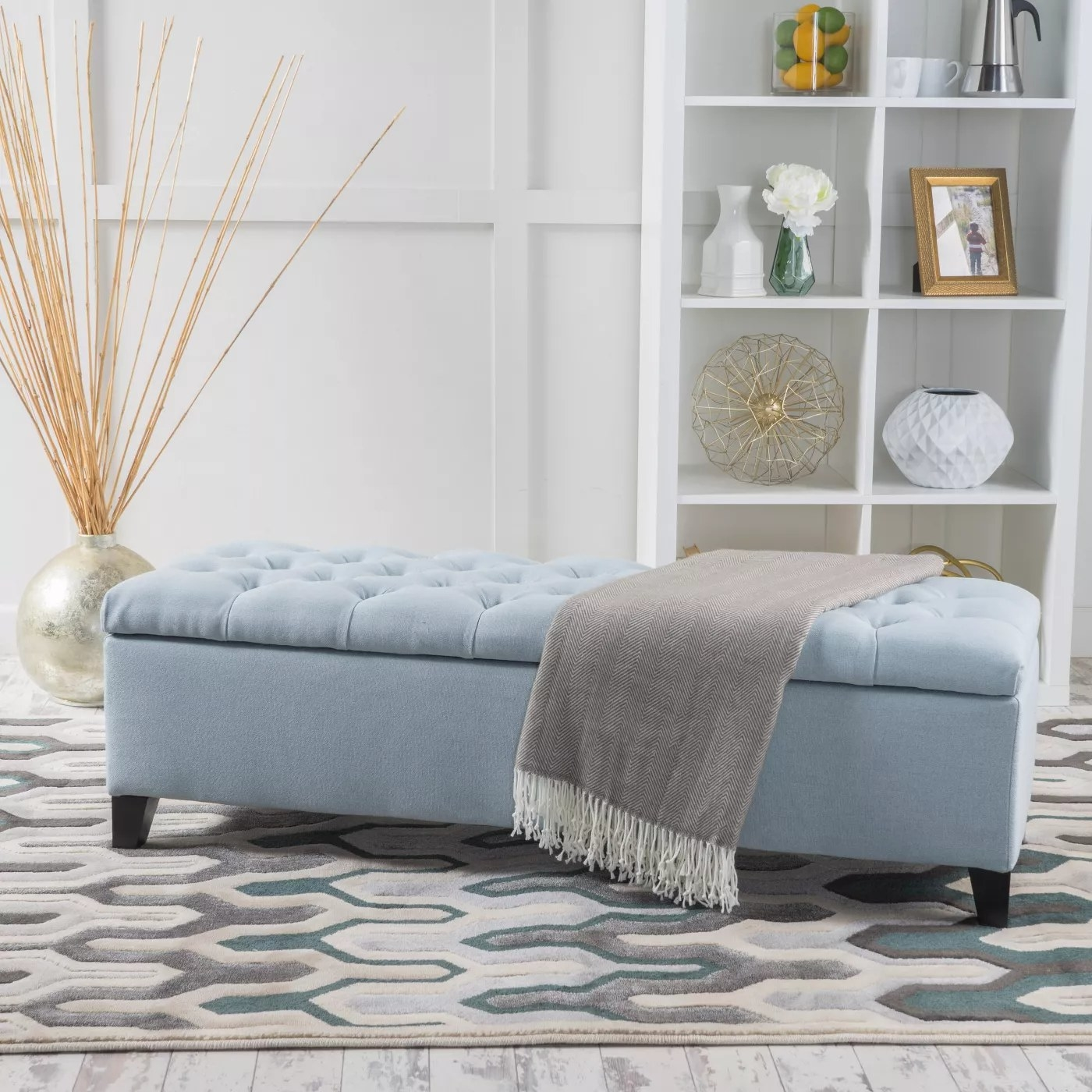 The ottoman in blue