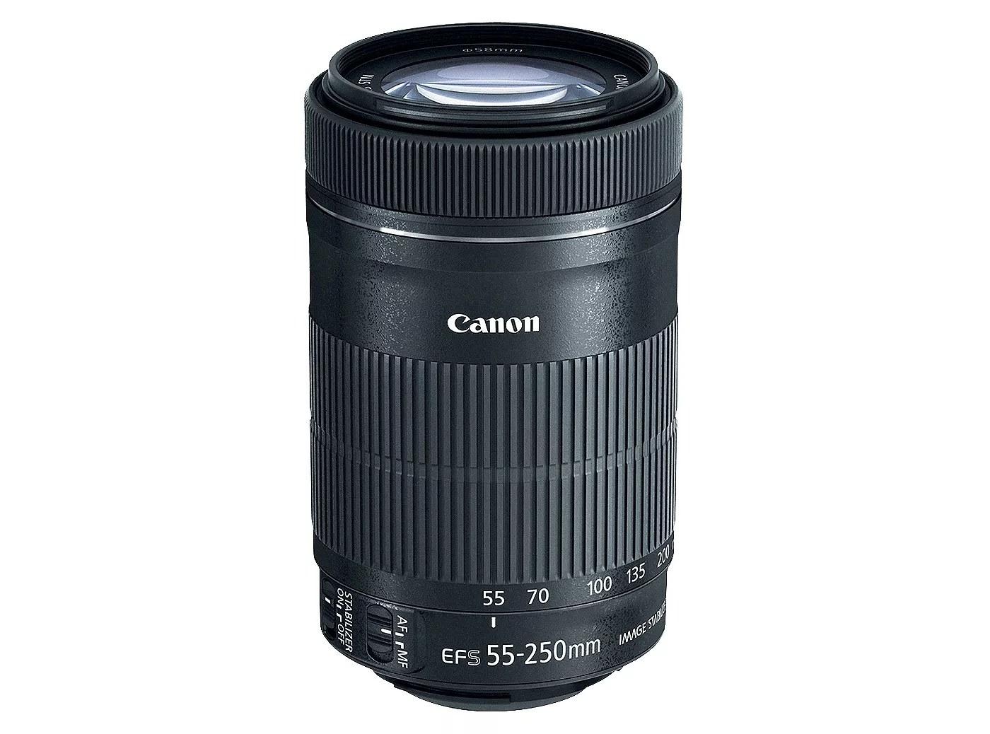 A Canon 55-250mm DSLR lens