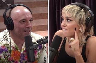 Miley clapping back at Joe Rogan