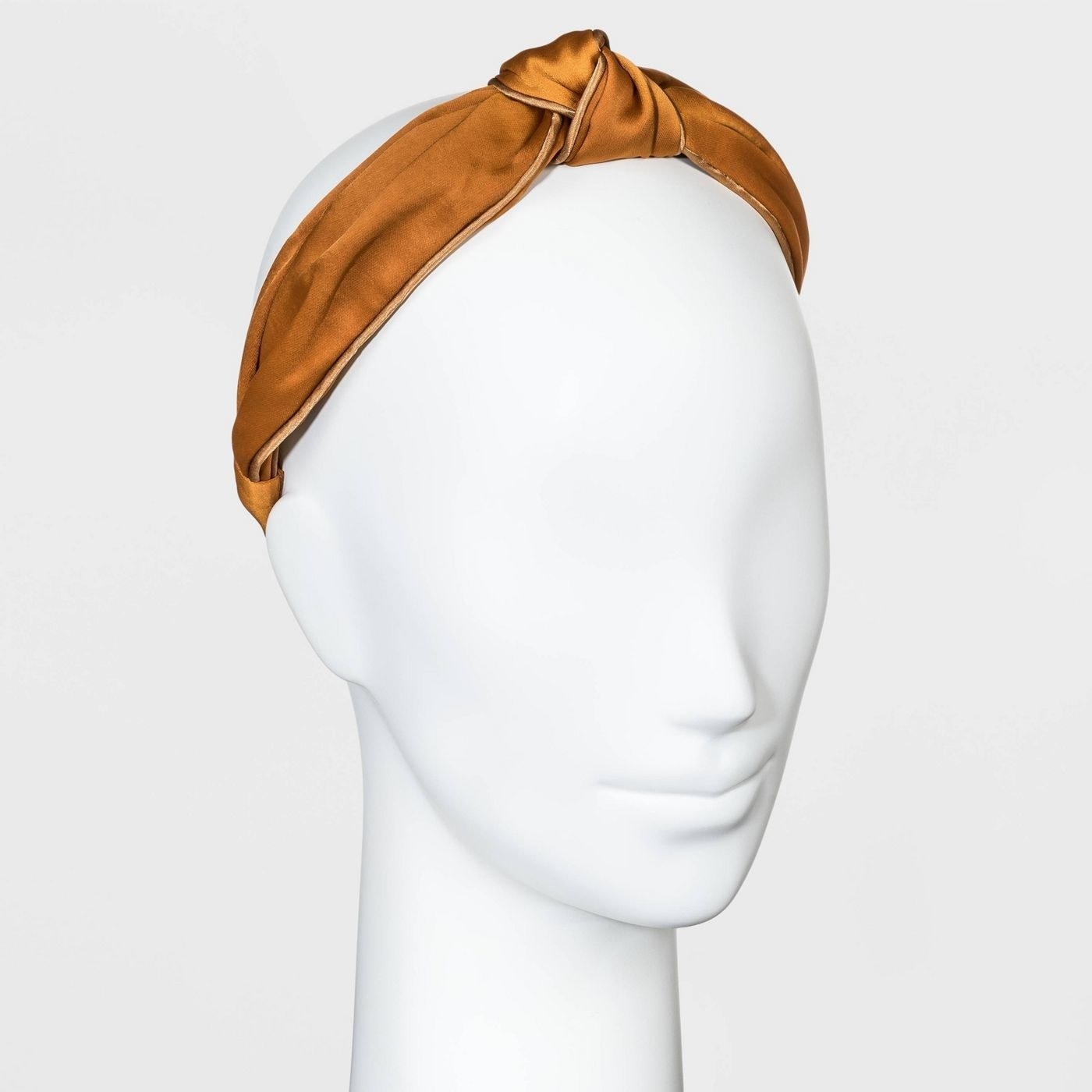 Satin knot with piped trim headband