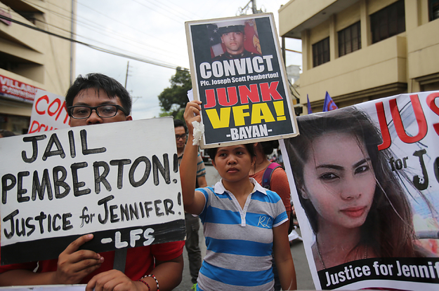 A US Marine Who Killed A Transgender Woman In The Philippines Has Been Pardoned