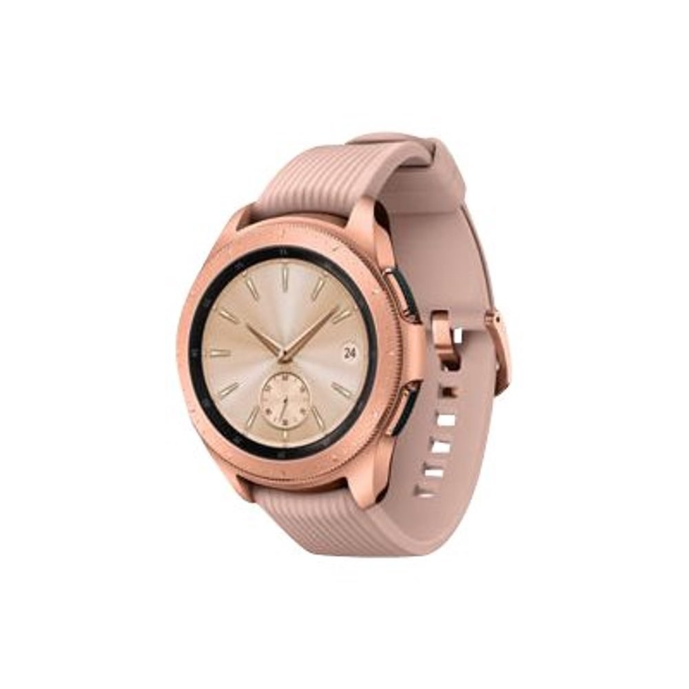 The rose gold smart watch