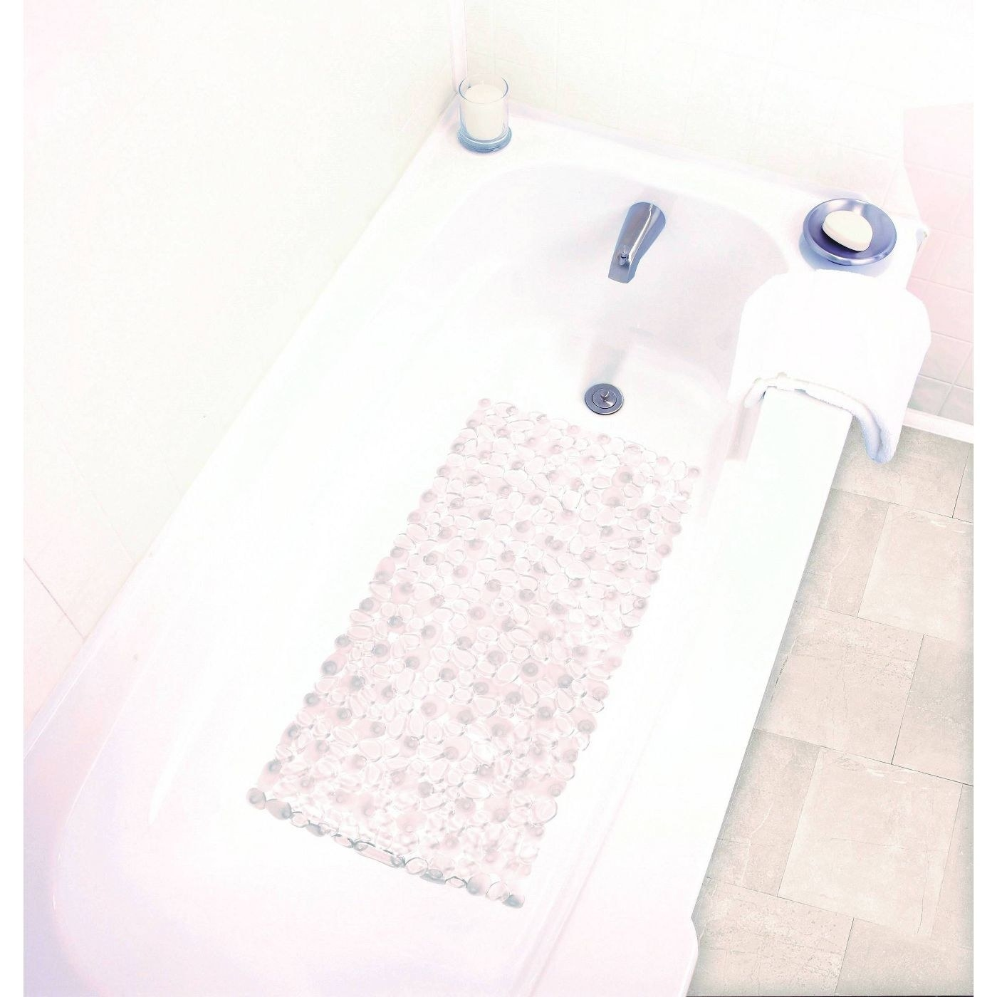 The clear pebble bath mat