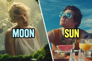Taylor Swift as the moon and Harry Styles as the sun