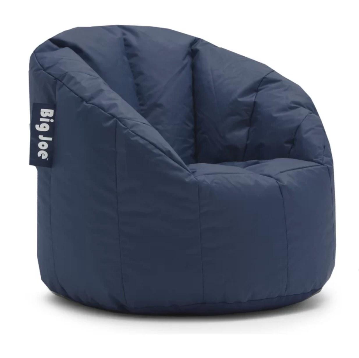 The bean bag chair in blue
