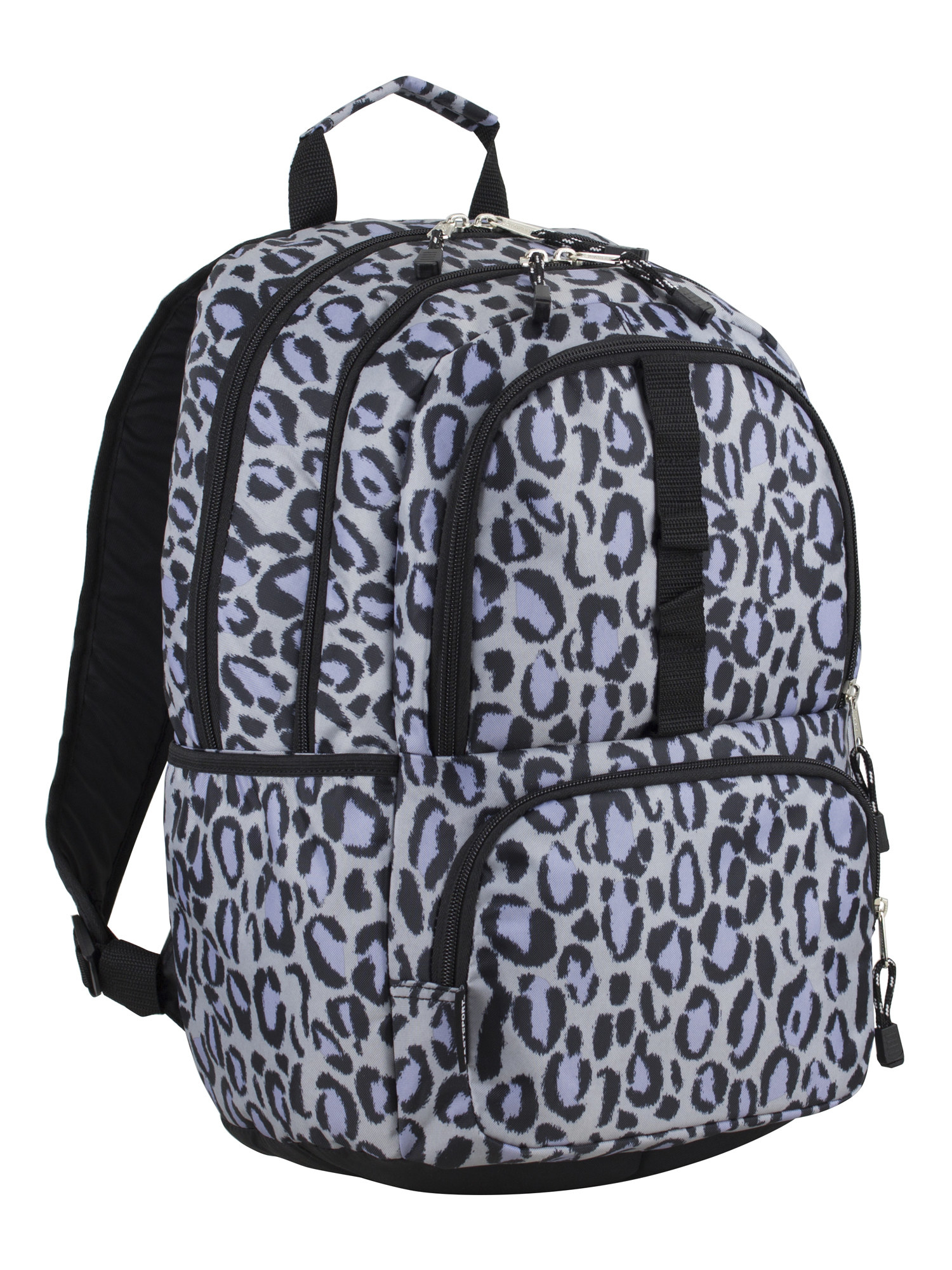 The grey leopard print backpack