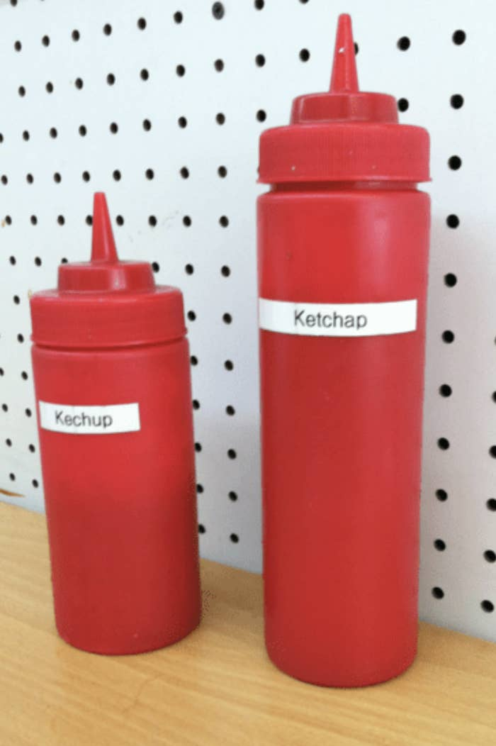 ketchup bottle reading ketchap