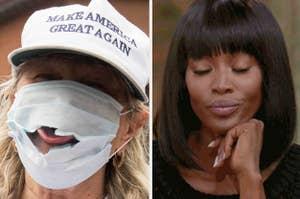 an anti-mask protestor