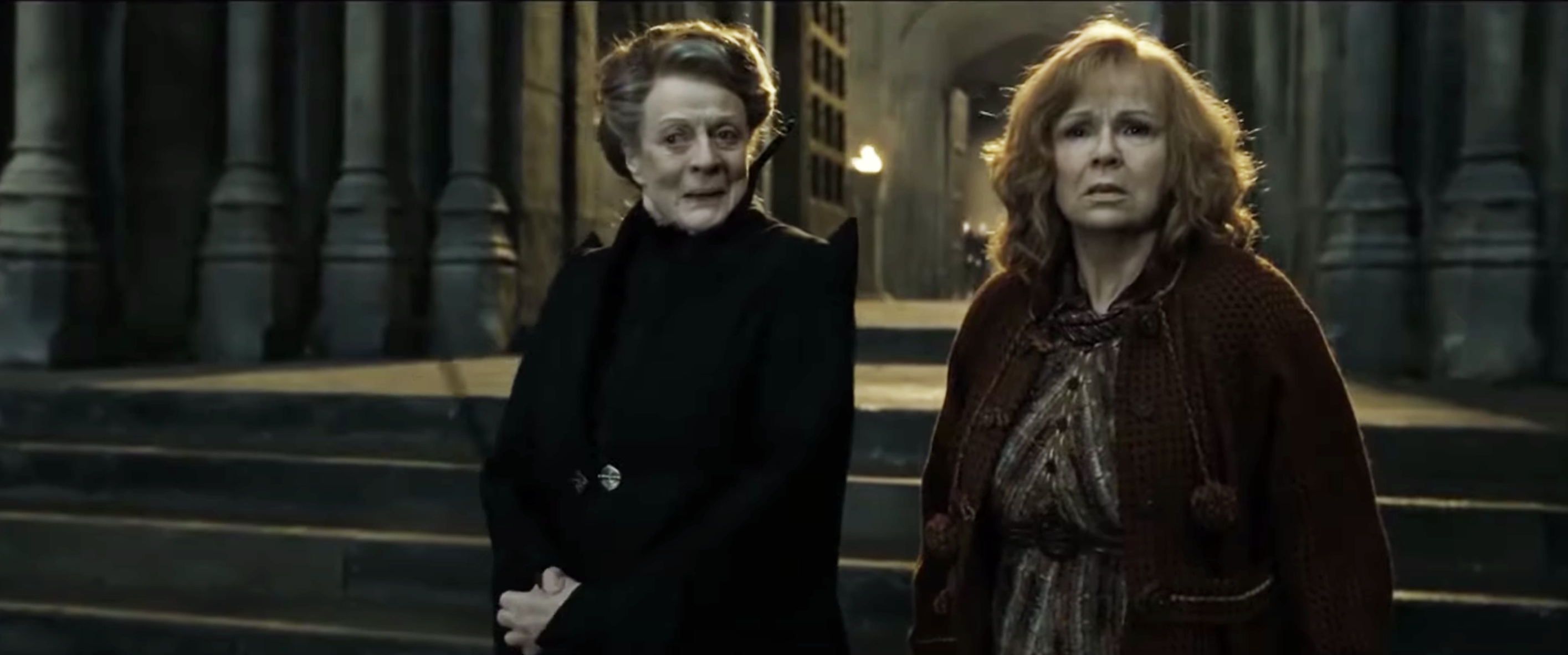 McGonagall giddily telling Molly Weasley about her favorite spell